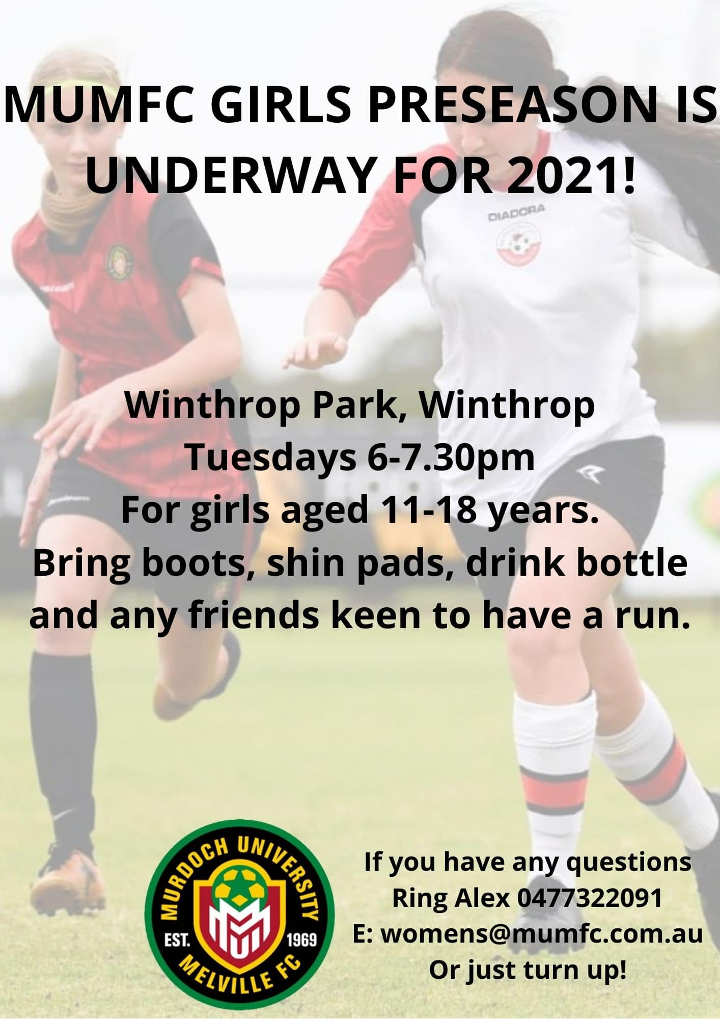 MUMFC Girls Preseason flier 2021